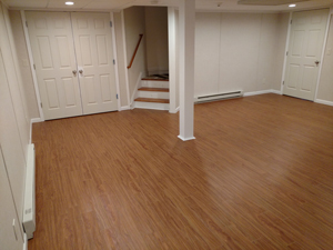 Basement Flooring After in Niagara Falls