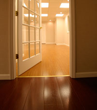 Basement Wood Flooring installed in Amherst, New York
