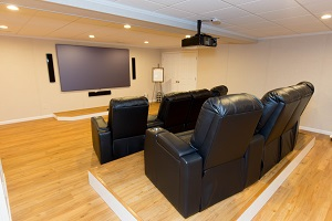 Basement theater installed in Rochester