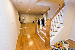 Finishing touches for a remodeled basement in Niagara Falls